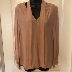 🆕 NWT 🌸Top Shop Pink long sleeve spring blouse